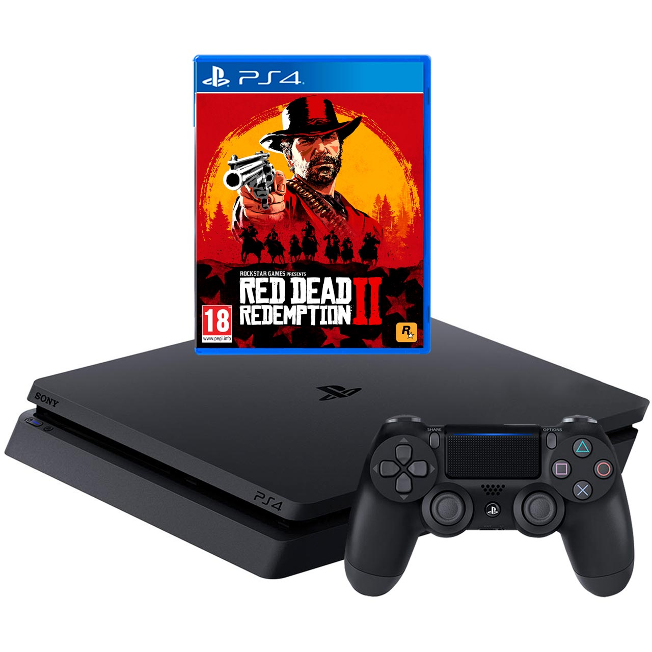 Game Console PLAYSTATION 4 500GB with Red Dead Redemption 2