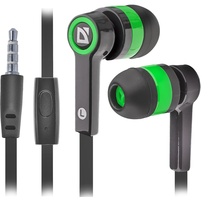 Headphones DEFENDER Pulse 420 Black+Green