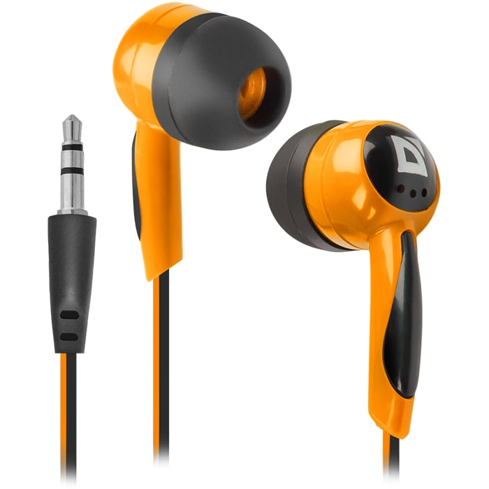 Headphones DEFENDER Basic 604 Black+Orange