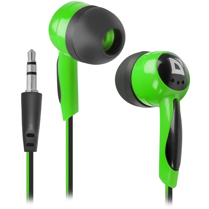 Headphones DEFENDER Basic 604 Green+Black