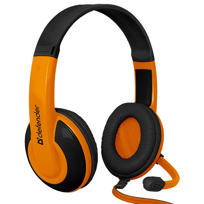 Headphones DEFENDER Warhead G-120 Orange